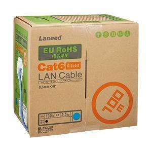 LD-CT6/BU100/RS ELECOM EU RoHS指令準拠 CAT6対応 LANケーブル 100m/リール巻(ブルー)|pointshoukadou