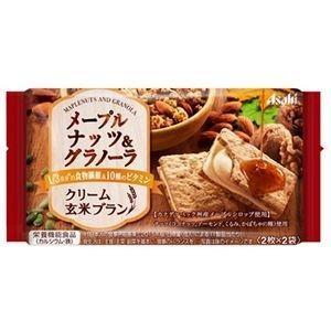 アサヒグループ食品 クリーム玄米ブラン メープルナッツ&グラノーラ 72g×6入