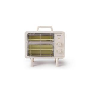 アイリスオーヤマ 電気ストーブ 速暖 転倒時電源OFF 400W/800W 2段階切替 遠赤外線ヒーター アイボリー IEHD-800|pokkey