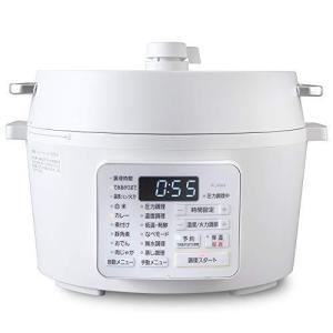 アイリスオーヤマ 電気圧力鍋 4.0L 2WAYタイプ グリル鍋 業界最高出力1000W ホワイト PC-MA4-W|pokkey