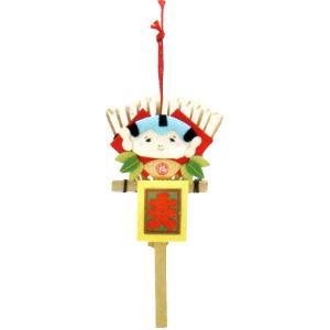 熊手 (くま手) 福助手作り ちりめん細工 迎春 正月 飾り 置物 縁起物 和雑貨  リュウコドウ