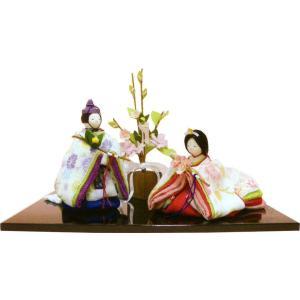 雛人形(ひな人形) ひなまつり 霞雛 桜橘飾り手作り コンパクト  ひなまつりの画像