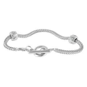 バブルルルビーズ(Bauble LuLu beads) Flex Chain Bracelet 6inch、パンドラ(Pandora)、トロールビーズ(Trollbeads)等幾通りものカスタマイズ可能! polkadot