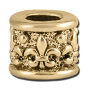 バブルルルビーズ(Bauble LuLu beads) Gold Fleur De Barrel、パンドラ(Pandora)、トロールビーズ(Trollbeads)等幾通りものカスタマイズ可能! polkadot