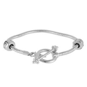 バブルルルビーズ(Bauble LuLu beads) Snake Chain Bracelet 6inch、パンドラ(Pandora)、トロールビーズ(Trollbeads)等幾通りものカスタマイズ可能! polkadot