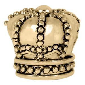バブルルルビーズ(Bauble LuLu beads) Antique Gold Crown、パンドラ(Pandora)、トロールビーズ(Trollbeads)等幾通りものカスタマイズ可能! polkadot