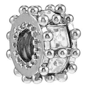 バブルルルビーズ(Bauble LuLu beads) Ferris Wheel - Clear、パンドラ(Pandora)、トロールビーズ(Trollbeads)等幾通りものカスタマイズ可能!|polkadot