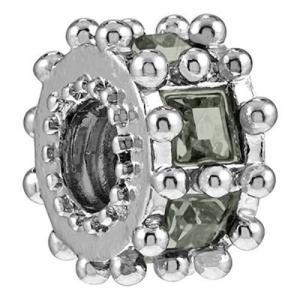 バブルルルビーズ(Bauble LuLu beads)Ferris Wheel - Black Diamond、パンドラ(Pandora)、トロールビーズ(Trollbeads)等幾通りものカスタマイズ可能!|polkadot