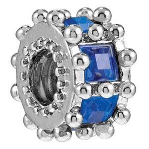 バブルルルビーズ(Bauble LuLu beads) Ferris Wheel - Sapphire、パンドラ(Pandora)、トロールビーズ(Trollbeads)等幾通りものカスタマイズ可能!|polkadot