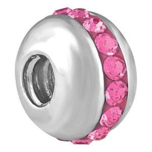 バブルルルビーズ(Bauble LuLu beads) Saturn - Pink、パンドラ(Pandora)、トロールビーズ(Trollbeads)等幾通りものカスタマイズ可能!|polkadot