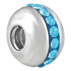 バブルルルビーズ(Bauble LuLu beads) Saturn-Aqua、パンドラ(Pandora)、トロールビーズ(Trollbeads)等幾通りものカスタマイズ可能!|polkadot