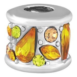 バブルルルビーズ(Bauble LuLu beads) Bejeweled - Yellows、パンドラ(Pandora)、トロールビーズ(Trollbeads)等幾通りものカスタマイズ可能!|polkadot
