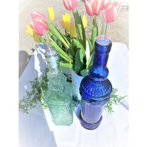 Cobalt blue/Blue bottle /Oil bottle|polkadot