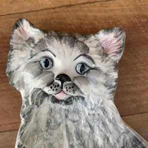 LA CERAMICA VBC gatto キャットプレート|polkadot