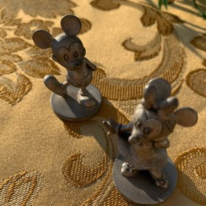 Mickey and Minnie Mouse pewter figurines 0090&0091 Schmid|polkadot