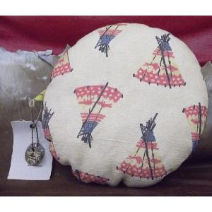 【CRAFT CONCEPT】丸型 中綿 Design クッション ティピーモチーフ プリント 30cm 日本製|polori