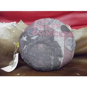【CRAFT CONCEPT】丸型 中綿 Design クッション アメリカンコイン柄 モチーフ プリント 30cm 日本製|polori