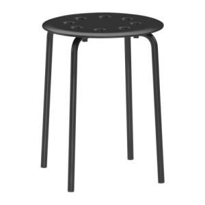 IKEA Original MARIUS スツール チェア ブラック スチール|polori