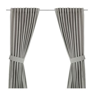 IKEA Original INGERT カーテン タッセル付き 1組 グレー 145x250 cm|polori