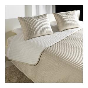 IKEA Original KARIT ベッドカバー&クッションカバー(クッションカバー2枚) ベージュ ダブル〜キングサイズ用 260x280/40x65 cm|polori