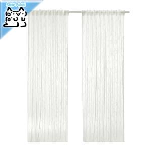 IKEA Original SPARVORT シアーカーテン1組 ホワイト 145x250 cm|polori