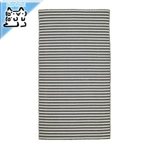 IKEA Original VESTBIRK ラグ 平織り 手織り グレー 80x150 cm|polori