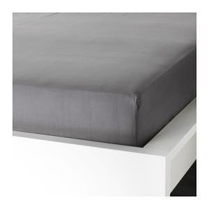 IKEA Original ULLVIDE ボックスシーツ グレー 160x200cm クィーンサイズ|polori