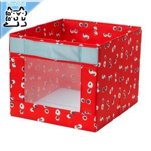 IKEA Original ANGELAGEN 収納 ボックス レッド 38x42x33 cm