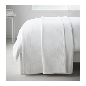 IKEA Original INDIRA ベッドカバー ホワイト シングルサイズ用 150x250 cm|polori