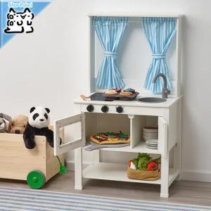 IKEA Original SPISIG トイ おもちゃ おままごとキッチン カーテン付き 55x3...