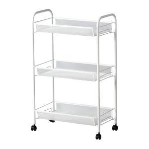 IKEA Original HORNAVAN バスワゴン/キッチンワゴン ホワイト 26x48x77 cm|polori