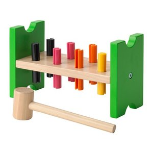 IKEA Original MULA おもちゃ ハンマートイ マルチカラー|polori