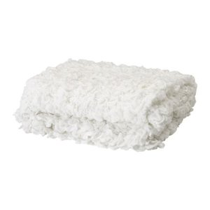 IKEA Original OFELIA 毛布 ホワイト 130x170 cm|polori