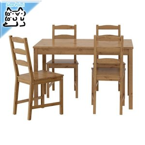 IKEA Original JOKKMOKK テーブル&チェア4脚 アンティークステイン 4人用 セット polori