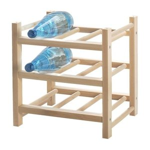 IKEA Original HUTTEN-フッテン- 木製ワインラック 9本用 無垢材|polori