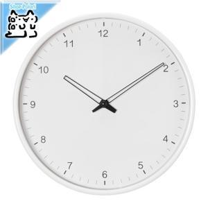 IKEA Original SNEJP ウォールクロック メタル ホワイト 壁掛時計 25cm|polori