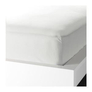 IKEA Original KNOPPA ボックスシーツ ホワイト 90x200cm シングルサイズ|polori