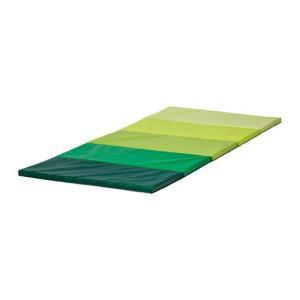 IKEA Original PLUFSIG 折りたたみ式ジムマット ヨガマット グリーン 78x185 cm|polori