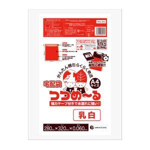 【ゆうパケット限定】 宅配ビニール袋 A4サイズ 0.060mm厚 乳白 10枚 400円 THW-2832sample|poly-stadium