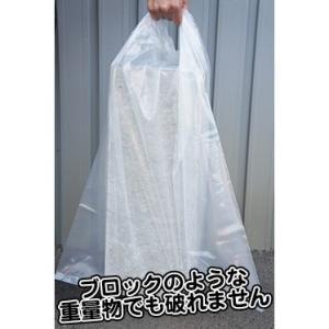 アスベスト回収袋中サイズ 0.15mm厚 ASB-650N 透明100枚 1枚あたり69円|poly-stadium|02