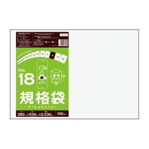 規格袋18号0.03mm厚 透明 100枚バラ 1冊460円 FC-18bara|poly-stadium