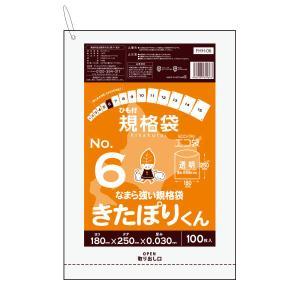 北海道規格 ひも付規格袋6号0.03mm厚 100枚バラ 透明 1冊123円 FHH-06bara きたぽりくん|poly-stadium