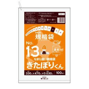 北海道規格 ひも付規格袋13号0.03mm厚 透明 FHH-13bara きたぽりくん 100枚 1冊392円 poly-stadium
