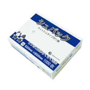 ティッシュタイプポリ袋 Mサイズ 0.010mm厚 半透明 1000枚 1小箱630円 FPT-11kobako シュパック|poly-stadium