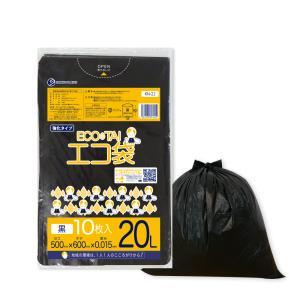 ごみ袋 20L0.015mm厚 黒 KN-22bara 10枚バラ 1冊36円 |poly-stadium