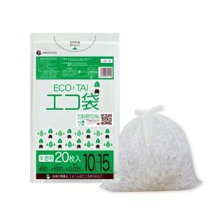 ごみ袋 10〜15L0.025mm厚 半透明 LN-19bara 20枚バラ 1冊88円 |poly-stadium
