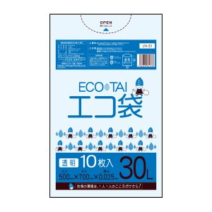 ごみ袋 30L0.025mm厚 透明 10枚バラ 1冊65円 LN-33bara |poly-stadium