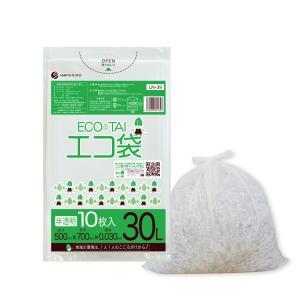 ごみ袋 30L0.030mm厚 半透明 10枚バラ 1冊73円 LN-39bara|poly-stadium