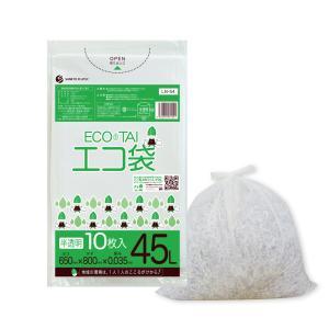 ごみ袋 45L0.035mm厚 LN-54bara 半透明 10枚バラ 1冊112円 poly-stadium