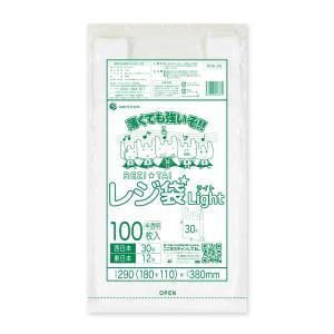 レジ袋ライト薄手タイプ西日本30号(東日本12号) RHK-30bara 0.011mm厚 半透明 100枚バラ 1冊95円|poly-stadium